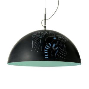 In-es.artdesign - Mezza Luna - Mezza Luna 1 Lavagna SP - Lampada sospensione