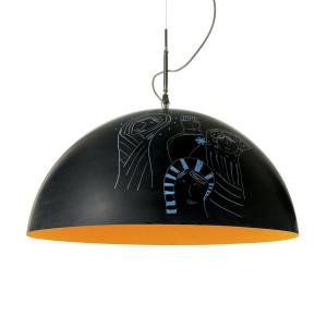 In-es.artdesign - Mezza Luna - Mezza Luna 2 Lavagna SP - Lampada a sospensione