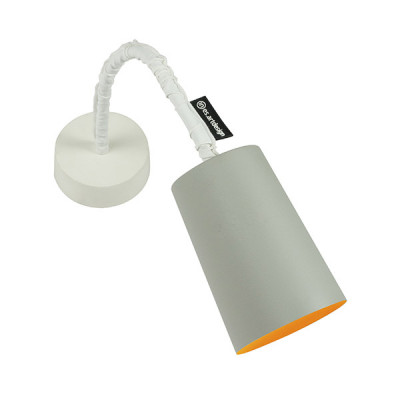 In-es.artdesign - Paint - Paint A Cemento AP - Applique colorata - Grigio/Arancio - LS-IN-ES040A31G-A