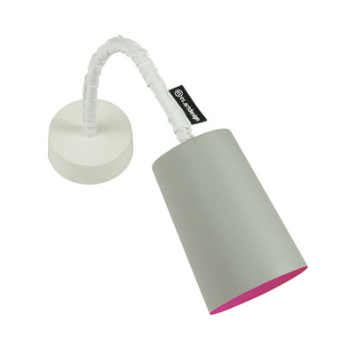 In-es.artdesign - Paint - Paint A Cemento AP - Applique colorata - Grigio / magenta - LS-IN-ES040A31G-M