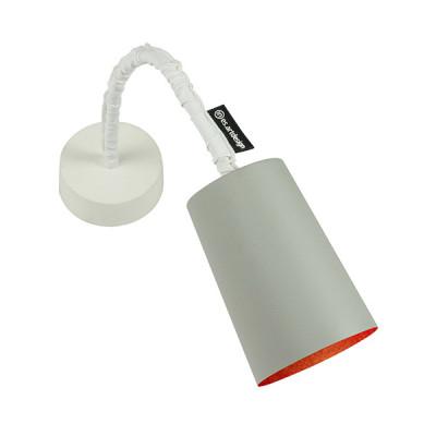 In-es.artdesign - Paint - Paint A Cemento AP - Applique colorata - Grigio/Rosso - LS-IN-ES040A31G-R