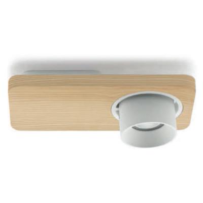 Linea Light - Applique - Beebo PL - Lampada di design componibile - Rovere naturale -  - Bianco caldo - 3000 K - 45°