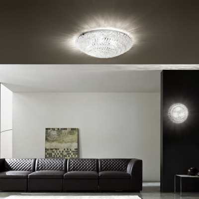 Linea Light - Artic - Plafoniera e applique in cristallo Artic XL