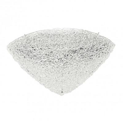 Linea Light - Artic - Plafoniera e applique spicchio semisferico Artic 50x50 cm - Cristallo - LS-LL-4663