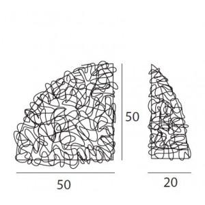 Linea Light - Artic - Plafoniera e applique spicchio semisferico Artic 50x50 cm