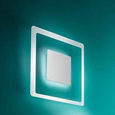 Linea Light - Aruba - Aruba AP PL LED S - Applique a parete quadrata - Cromo - LS-LL-8921 - Bianco caldo - 3000 K - Diffusa