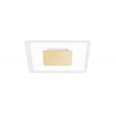 Linea Light - Aruba - Aruba AP PL LED S - Applique a parete quadrata - Oro - LS-LL-8923 - Bianco caldo - 3000 K - Diffusa