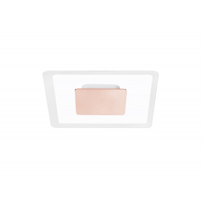 Linea Light - Aruba - Aruba AP PL LED S - Applique a parete quadrata - Rosa - LS-LL-8922 - Bianco caldo - 3000 K - Diffusa
