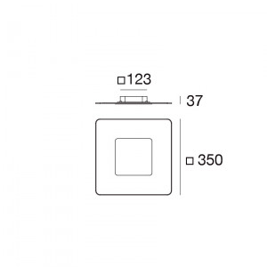 Linea Light - Aruba - Aruba AP PL LED S - Applique a parete quadrata