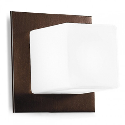 Linea Light - Bathroom - Lampada da parete Cubic - Wengè - LS-LL-6414