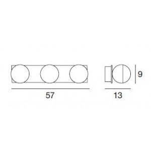 Linea Light - Boll - Plafoniera e applique per il bagno Boll 3 luci