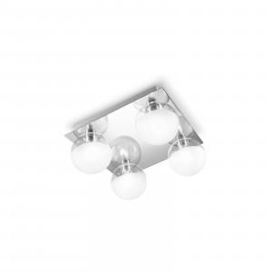 Linea Light - Boll - Plafoniera e applique per il bagno Boll 4 luci - Cromo - LS-LL-5011