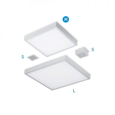 Linea Light - Box - Box Led M - Plafoniera da parete / soffitto
