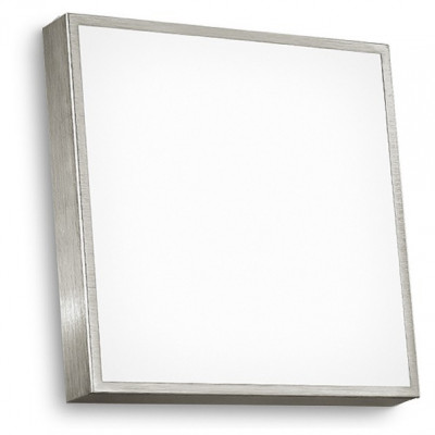 Linea Light - Box - Box S - Applique da parete o lampada soffitto - Nichel satinato - LS-LL-4702