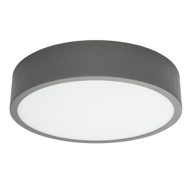 Linea Light - Box - Box SR AP PL LED L - Plafoniera rotonda misusa L - Cemento -  - Bianco naturale - 4000 K - Diffusa