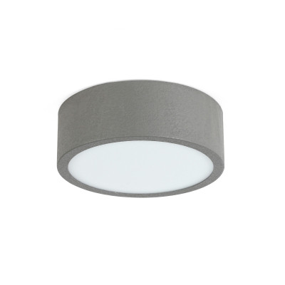 Linea Light - Box - Box SR AP PL LED M - Plafoniera rotonda misusa M - Cemento -  - Bianco naturale - 4000 K - Diffusa