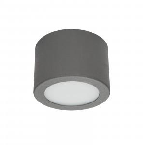 Linea Light - Box - Box SR AP PL LED S - Plafoniera rotonda misusa S - Cemento -  - Bianco caldo - 3000 K - Diffusa