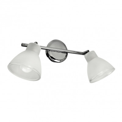 Linea Light - Campana - Campana - Applique orientabile a due luci - Cromo - LS-LL-4402