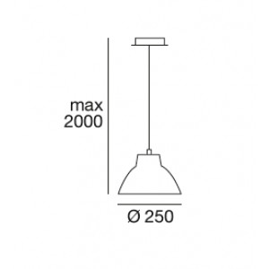 Linea Light - Campana - Campana M - Lampada a sospensione