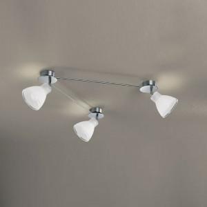 Linea Light - Campana - Campana - Plafoniera regolabile da interni a 3 luci - Nichel satinato - LS-LL-4428