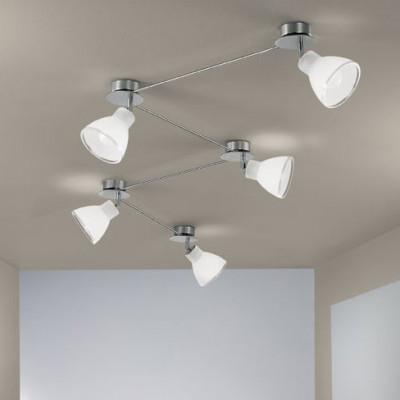 Linea Light - Campana - Campana - Plafoniera regolabile da interni a 5 luci - Nichel spazzolato - LS-LL-4429