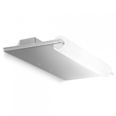 Linea Light - Circular - Lampada da parete a mensola Single - Cromo - LS-LL-3690