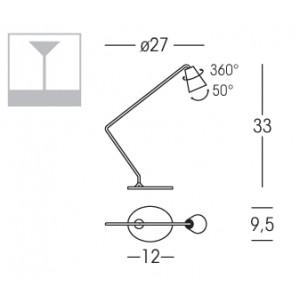 Linea Light - Conus - Conus LED - Lampada da tavolo S