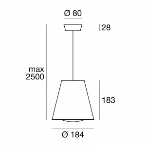 Linea Light - Conus - Conus LED - Lampada led a sospensione conica M