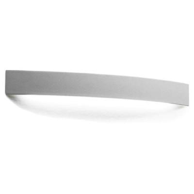 Linea Light - Curvè - Curvè LED - Lampada da parete XL - Grigio Cemento - LS-LL-1147 - Bianco caldo - 3000 K - Diffusa