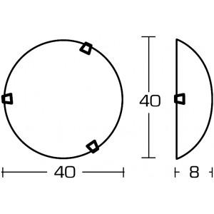 Linea Light - Delta - Plafoniera o applique Delta M