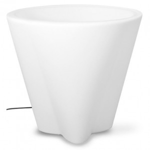 Linea Light - Flower Family - Flower Family - Vaso luminoso da esterni L - Natural - LS-LL-15053