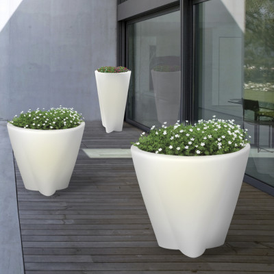 Linea Light - Flower Family - Flower FL M OUT OUT LED - Vaso luminoso LED misura M
