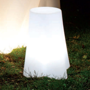 Linea Light - Flower Family - Flower FL SEAT LED RGB - Lampada a seduta da giardino a LED - Natural -  - RGB - Diffusa