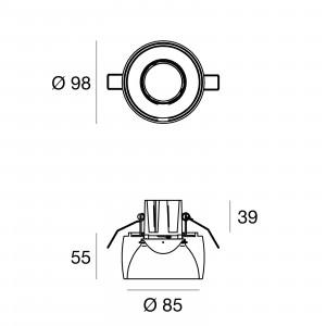 Linea Light - Gypsum - Gypsum SR FA LED - Faretto in gesso rotondo