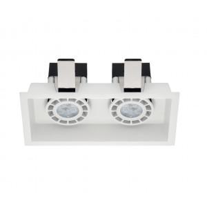 Linea Light - Incasso - Incasso C2 FA - Faretto da incasso soffitto a due luci - Bianco - LS-LL-8379