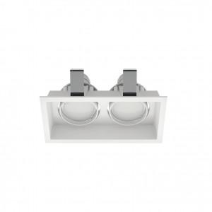 Linea Light - Incasso - Incasso C2J FA - Faretto da incasso soffitto a due luci orientabili - Bianco - LS-LL-8372