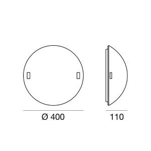 Linea Light - Liner - Lampada da parete o da soffitto Liner S