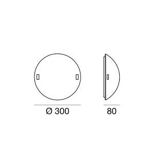 Linea Light - Liner - Lampada da parete o da soffitto Liner XS