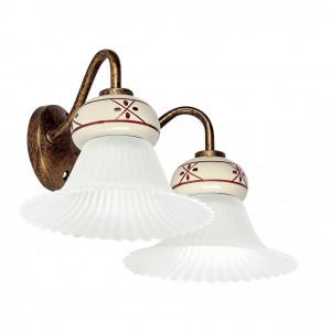Linea Light - Mami - Applique classica doppia a parete Mami - Ruggine - LS-LL-2654