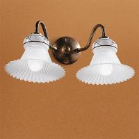 Linea Light - Mami - Applique classica doppia a parete Mami
