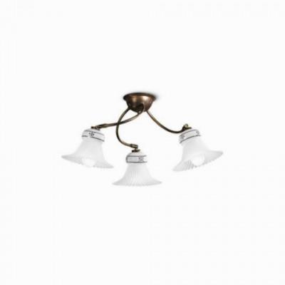Linea Light - Mami - Lampada a soffitto in ceramica decorata Mami S