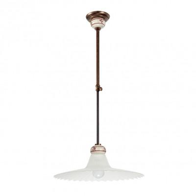 Linea Light - Mami - Lampadario a sospensione cupola a campana Mami - Ruggine - LS-LL-2638