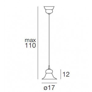 Linea Light - Mami - Lampadario cupola a campana Mami S