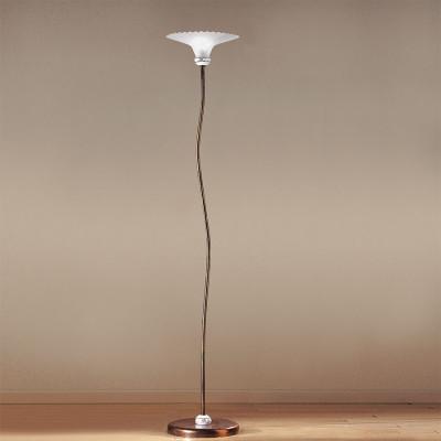 Linea Light - Mami - Piantana a terra con paralume in vetro Mami