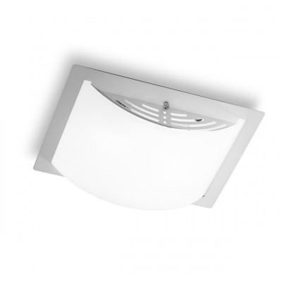 Linea Light - Met Wally - Met Wally M - Applique e plafoniera per soffitto - Cromo - LS-LL-537K881