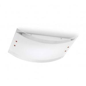 Linea Light - Mille - Lampada a soffitto/parete Mille M - Nichel spazzolato/Ciliegio - LS-LL-1041