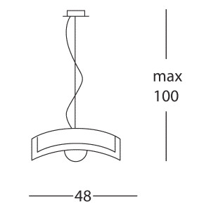 Linea Light - Mille - Lampada a sospensione Mille S