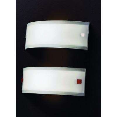 Linea Light - Mille - Lampada da parete Mille L - Nichel, Ciliegio