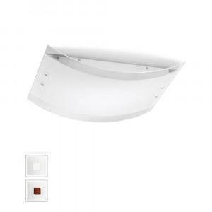 Linea Light - Mille - Mille LED AP PL L - Ampia applique o plafoniera - Nichel spazzolato/Ciliegio -  - Bianco caldo - 3000 K - Diffusa
