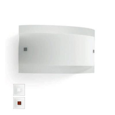 Linea Light - Mille - Mille LED AP PL S - Applique o plafoniera in vetro - Nichel spazzolato/Ciliegio -  - Bianco caldo - 3000 K - Diffusa